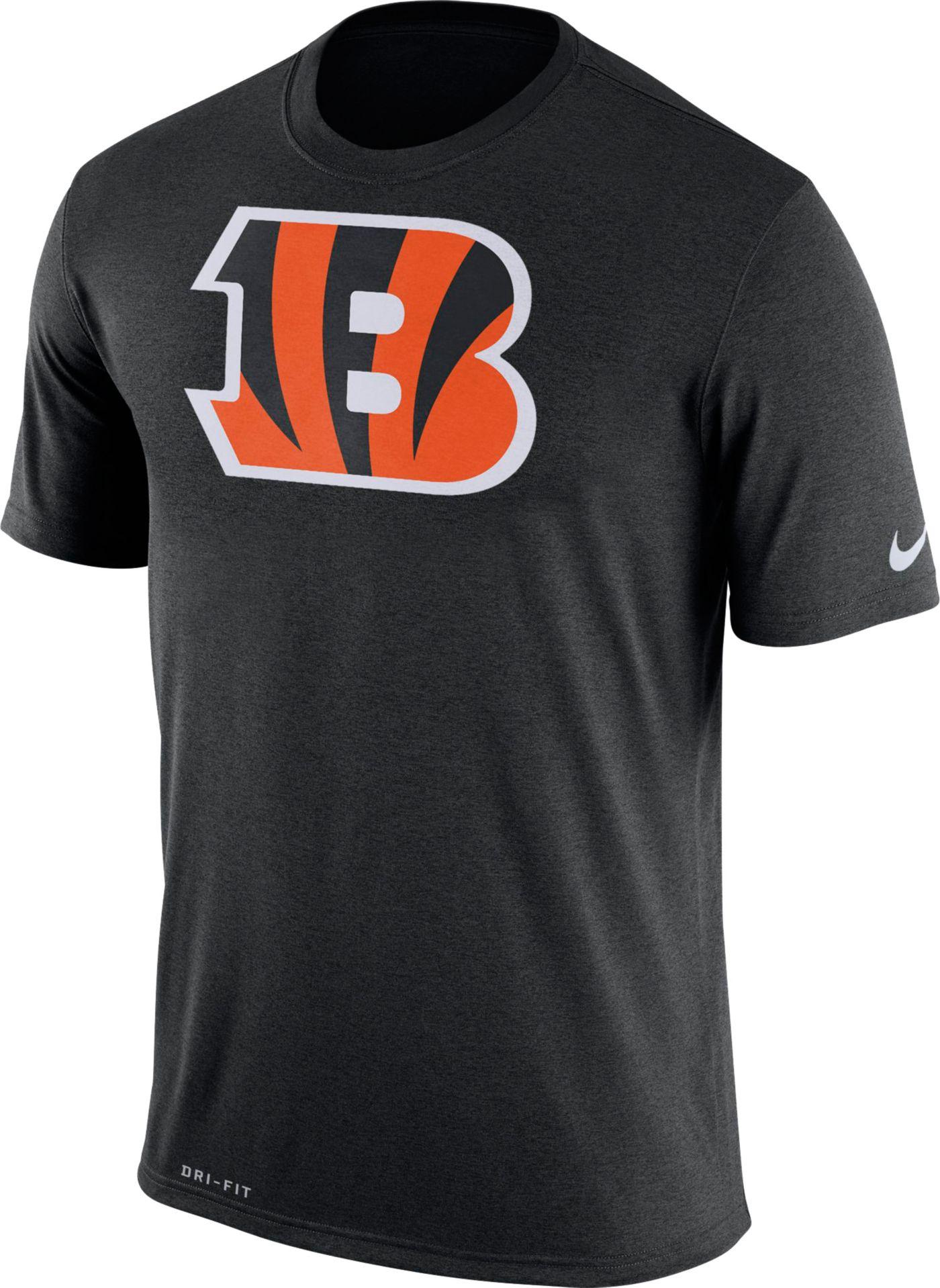 Nike Men's Cincinnati Bengals Legend Logo Black T-Shirt
