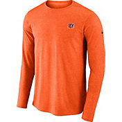 Nike Men's Cincinnati Bengals Sideline Coaches Performance Orange Long Sleeve Shirt