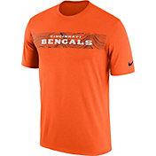 Nike Men's Cincinnati Bengals Sideline Seismic Legend Performance Orange T-Shirt
