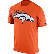 Nike Men's Denver Broncos Legend Logo Performance Orange T-Shirt