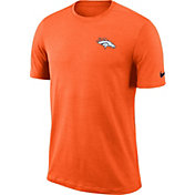 Nike Men's Denver Broncos Sideline Coaches Performance Orange T-Shirt