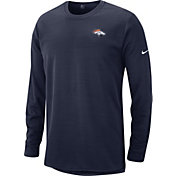 Nike Men's Denver Broncos Sideline Modern Navy Long Sleeve Top
