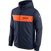 Nike Men's Denver Broncos Sideline Therma-FIT Navy Full-Zip Hoodie