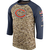 Nike Men's Chicago Bears Salute to Service 2017 Camouflage Raglan