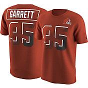 Nike Men's Cleveland Browns Myles Garrett #95 Prism Player Orange T-Shirt