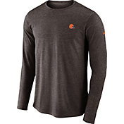 Nike Men's Cleveland Browns Sideline Coaches Performance Brown Long Sleeve Shirt