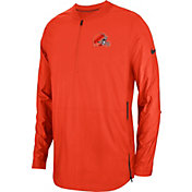 Nike Men's Cleveland Browns Sideline Lockdown Half-Zip Orange Jacket