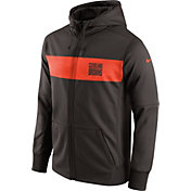 Nike Men's Cleveland Browns Sideline Therma-FIT Brown Full-Zip Hoodie