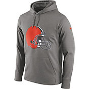 Nike Men's Cleveland Browns Essential Logo Grey Hoodie