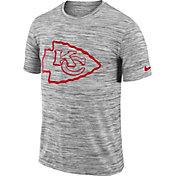 Nike Men's Kansas City Chiefs Legend Velocity Travel Performance Grey T-Shirt