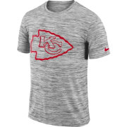 Nike Men's Kansas City Chiefs Legend Velocity Travel Performance Grey T-Shirt