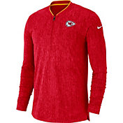 Nike Men's Kansas City Chiefs Sideline Coaches Half-Zip Red Pullover