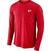 Nike Men's Kansas City Chiefs Sideline Coaches Performance Red Long Sleeve Shirt