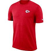 Nike Men's Kansas City Chiefs Sideline Coaches Performance Red T-Shirt