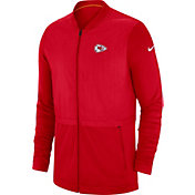 Nike Men's Kansas City Chiefs Sideline Hybrid Full-Zip Red Jacket