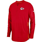 Nike Men's Kansas City Chiefs Sideline Lockdown Half-Zip Red Jacket