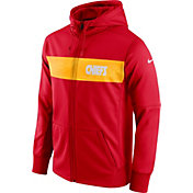 Nike Men's Kansas City Chiefs Sideline Therma-FIT Red Full-Zip Hoodie
