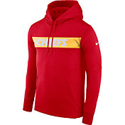 Nike Men's Kansas City Chiefs Sideline Therma-FIT Red Pullover Hoodie