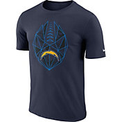 Nike Men's Los Angeles Chargers Diffraction Icon Performance Navy T-Shirt