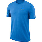 Nike Men's Los Angeles Chargers Sideline Coaches Performance Blue T-Shirt