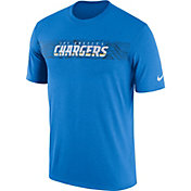 Nike Men's Los Angeles Chargers Sideline Seismic Legend Performance Blue T-Shirt