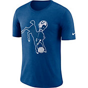 Nike Men's Indianapolis Colts Historic Crackle Tri-Blend Royal T-Shirt
