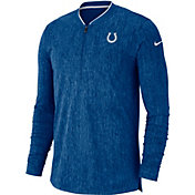 Nike Men's Indianapolis Colts Sideline Coaches Half-Zip Royal Pullover