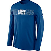 Nike Men's Indianapolis Colts Sideline Seismic Legend Performance Royal Long Sleeve Shirt