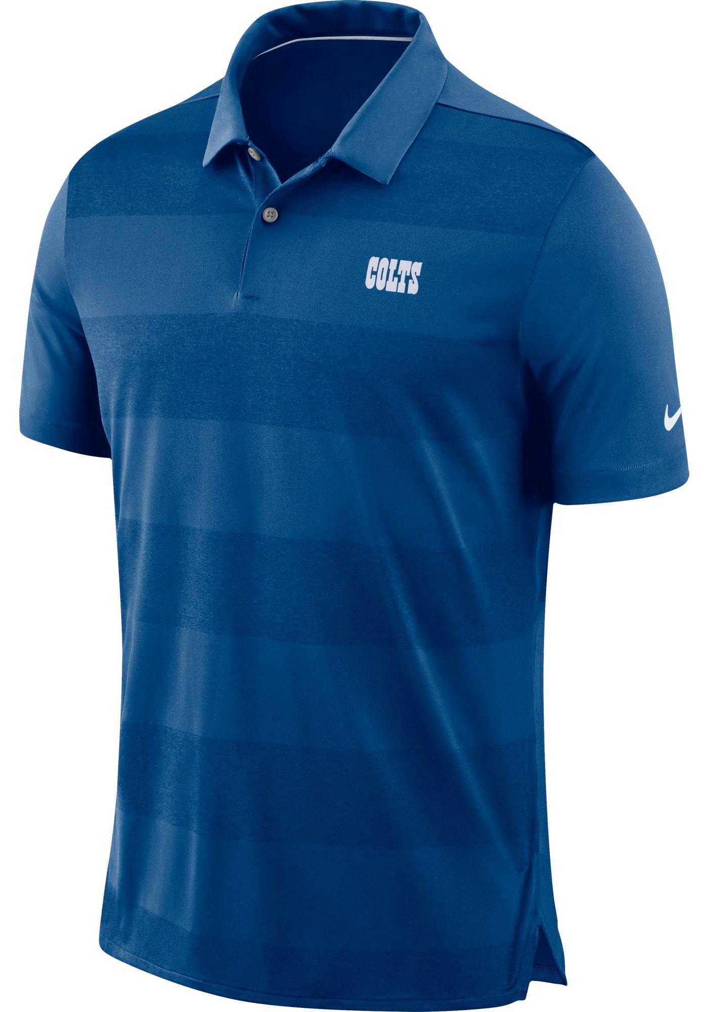 Nike Men's Indianapolis Colts Sideline Early Season Royal Polo