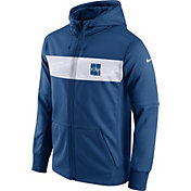 Nike Men's Indianapolis Colts Sideline Therma-FIT Royal Full-Zip Hoodie