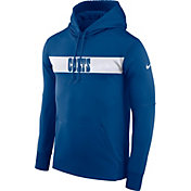 Nike Men's Indianapolis Colts Sideline Therma-FIT Royal Pullover Hoodie