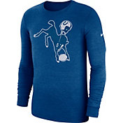 Nike Men's Indianapolis Colts Tri-Blend Historic Crackle Royal Long Sleeve Shirt