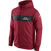 Nike Men's Arizona Cardinals Sideline Therma-FIT Red Full-Zip Hoodie