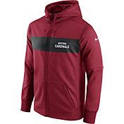 Nike Men's Arizona Cardinals Sideline Therma-FIT Red Full-Zip Hoodie