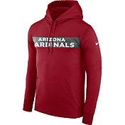 Nike Men's Arizona Cardinals Sideline Therma-FIT Red Pullover Hoodie