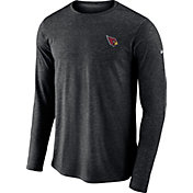 Nike Men's Arizona Cardinals Sideline Coaches Performance Black Long Sleeve Shirt