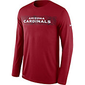 Nike Men's Arizona Cardinals Sideline Seismic Legend Performance Red Long Sleeve Shirt