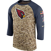 Nike Men's Arizona Cardinals Salute to Service 2017 Camouflage Raglan