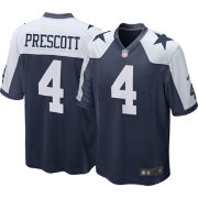Nike Men's Throwback  Game Jersey Dallas Cowboys Dak Prescott #4