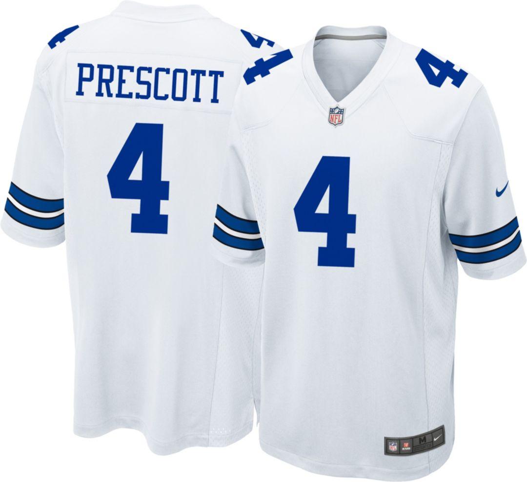 more photos c79da 8f88a Nike Men's Game Jersey Dallas Cowboys Dak Prescott #4