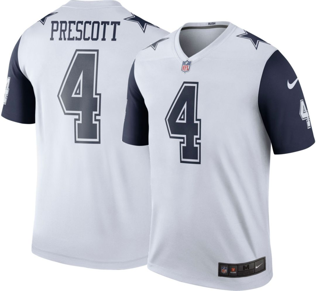 new concept bf200 a65ae Nike Men's Color Rush Legend Jersey Dallas Cowboys Dak Prescott #4