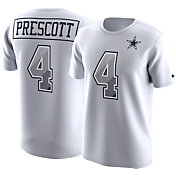 Nike Men's Dallas Cowboys Dak Prescott #4 Prism Player White T-Shirt