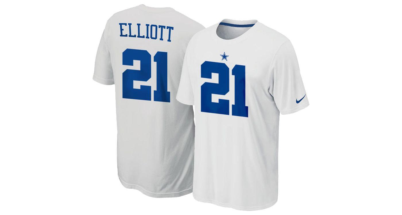 Nike Men's Dallas Cowboys Ezekiel Elliott #21 Pride White T-Shirt