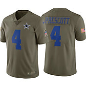 Nike Men's Home Limited Salute to Service 2017 Dallas Cowboys Dak Prescott #4 Jersey