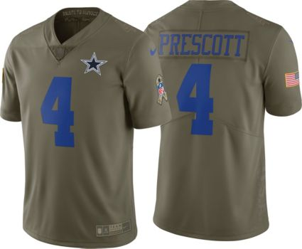 dc794fc11a7 Nike Men s Limited Salute to Service 2017 Dallas Cowboys Dak Prescott  4  Jersey