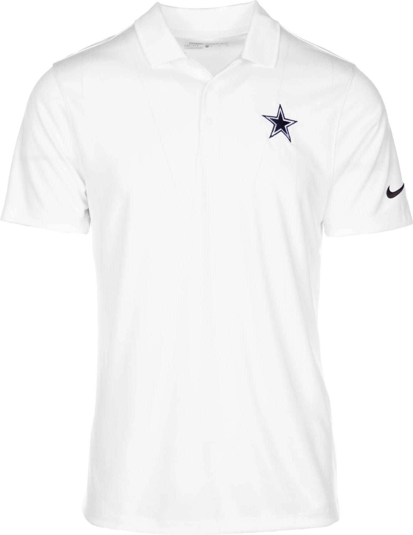 Nike Men's Dallas Cowboys Victory Stripe White Polo