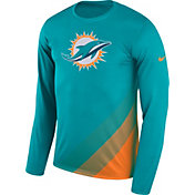 Nike Men's Miami Dolphins Sideline 2017 Prism Long Sleeve Performance Shirt
