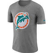 Nike Men's Miami Dolphins Historic Crackle Tri-Blend Grey T-Shirt