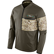 Nike Men's Miami Dolphins Salute to Service 2017 Shield Hybrid Jacket