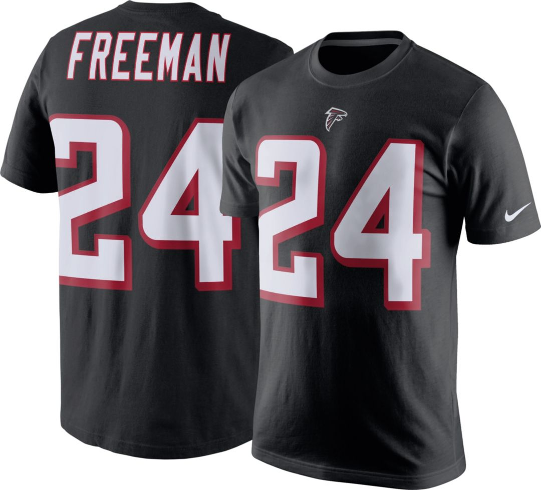 pretty nice 7b4e8 d3890 Nike Men's Atlanta Falcons Devonta Freeman #24 Pride Black T-Shirt